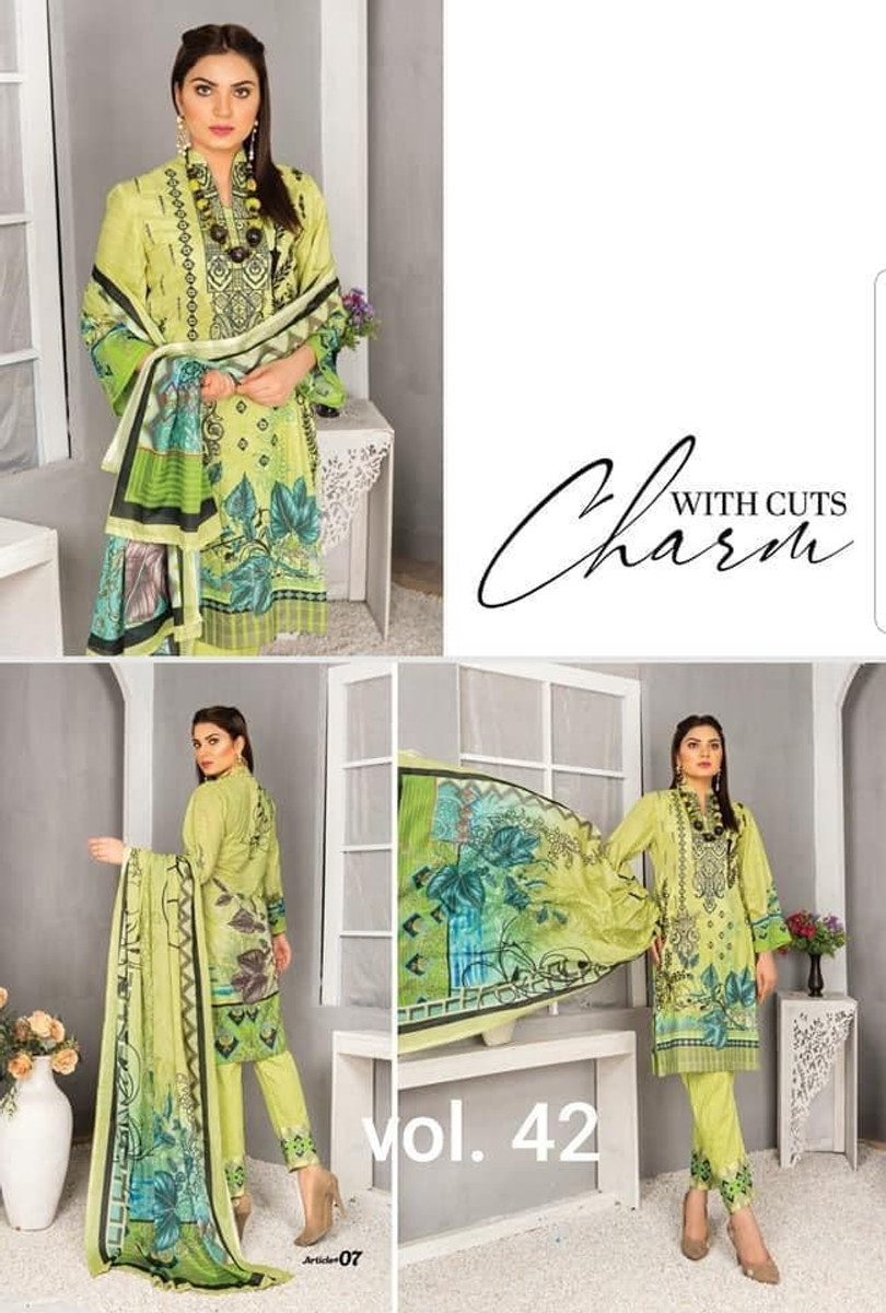 Modern Embroidered Lawn Vol-42 M07