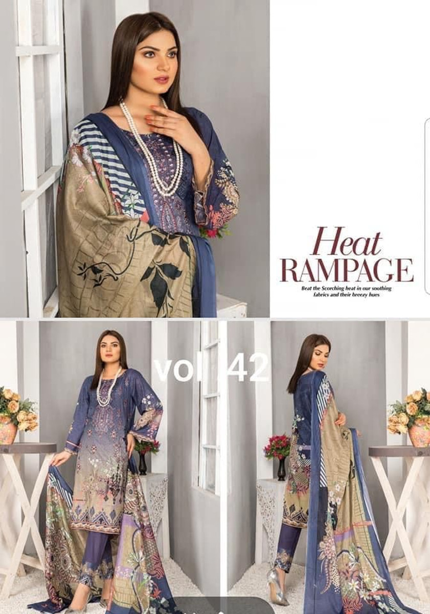 Modern Embroidered Lawn Vol-42 M08