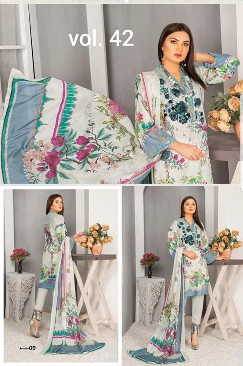 Modern Embroidered Lawn Vol-42 M09
