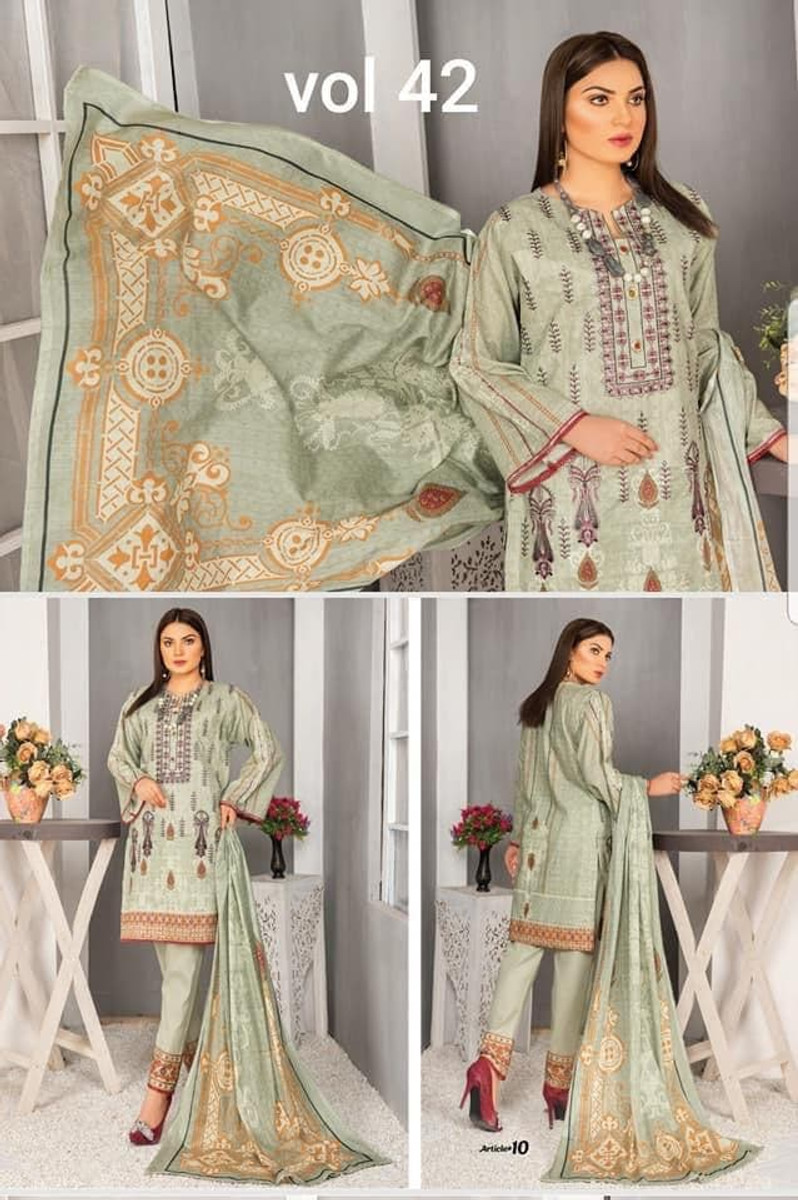 Modern Embroidered Lawn Vol-42 M10