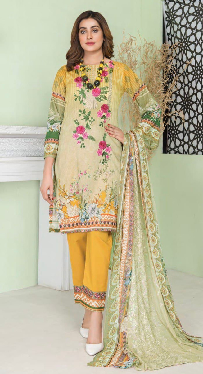 Modern Embroidered Lawn Vol-47 M01