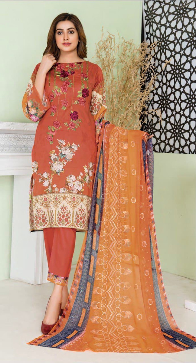 Modern Embroidered Lawn Vol-47 M02