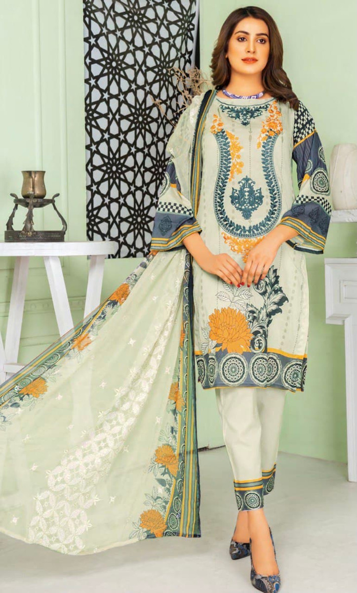 Modern Embroidered Lawn Vol-47 M07