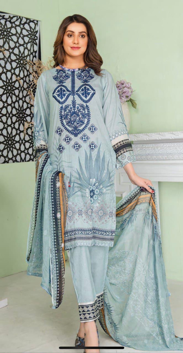 Modern Embroidered Lawn Vol-47 M08