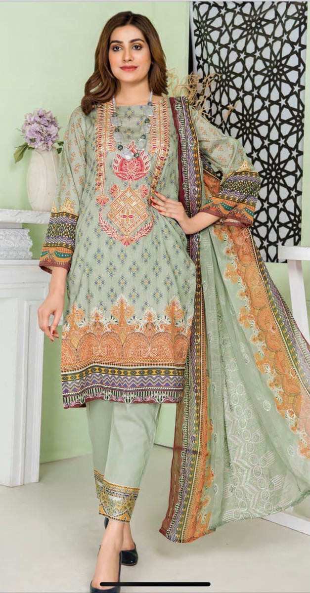 Modern Embroidered Lawn Vol-47 M10