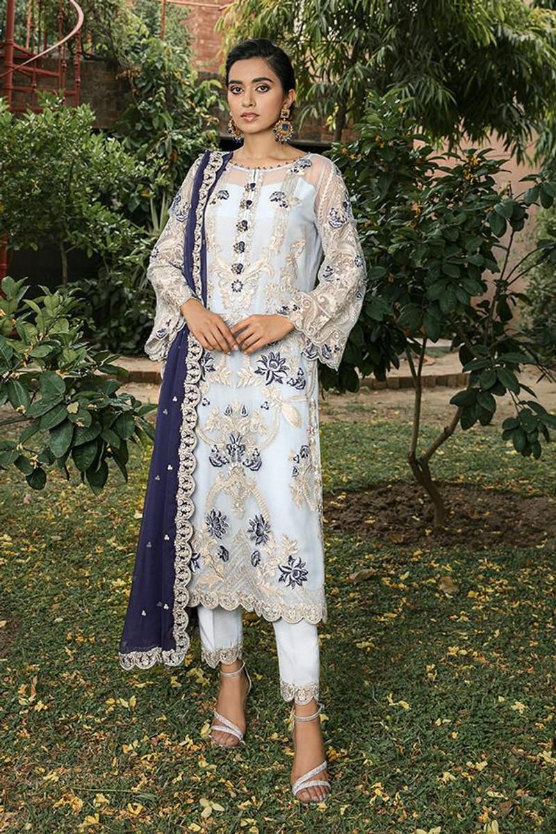 Sooraj Garh Chiffon Collection by Imrozia - I-147 Surmai Bahar