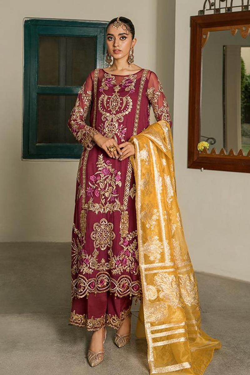 Sooraj Garh Chiffon Collection by Imrozia - I-144 Roshina
