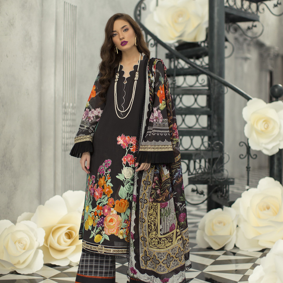 Rouche Embroidered Lawn RSL-04 (FLOWER PALACE)