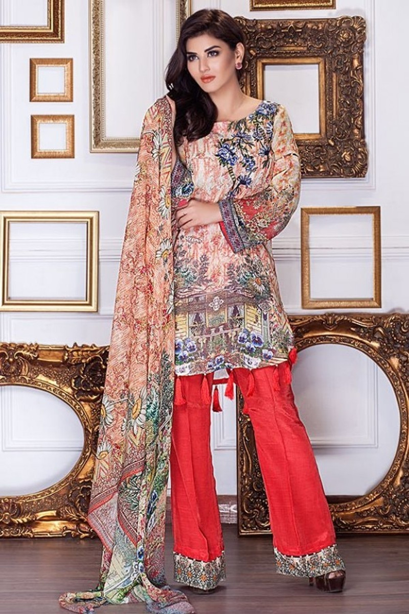 Motifz Embroidered Chiffon MDC-50