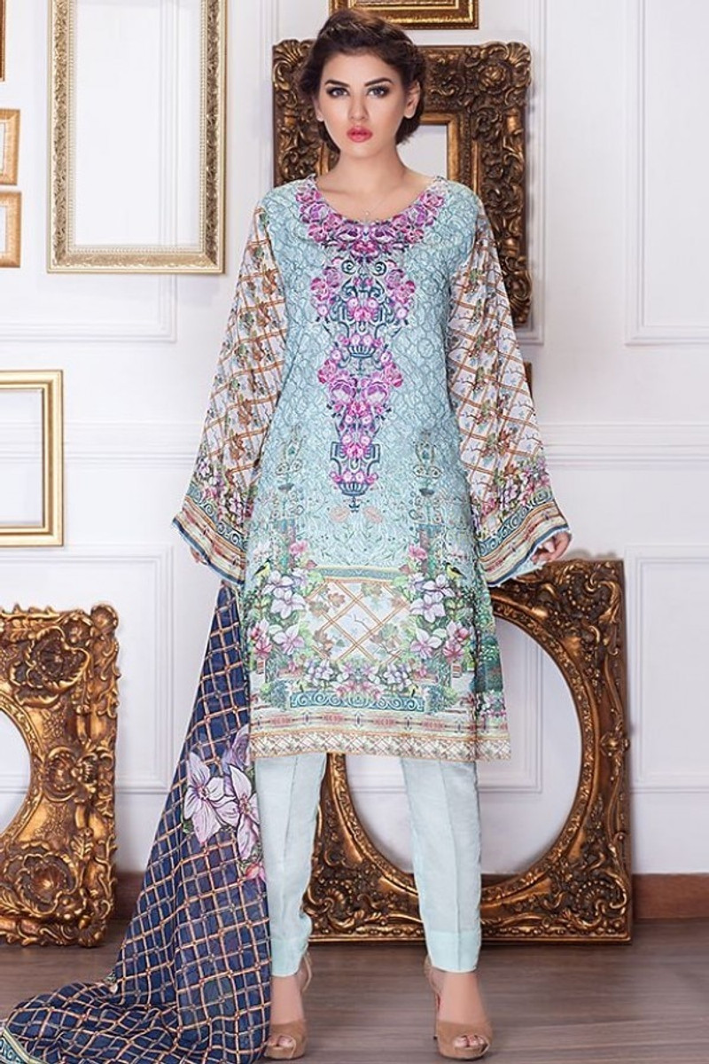 Motifz Embroidered Chiffon MDC-48