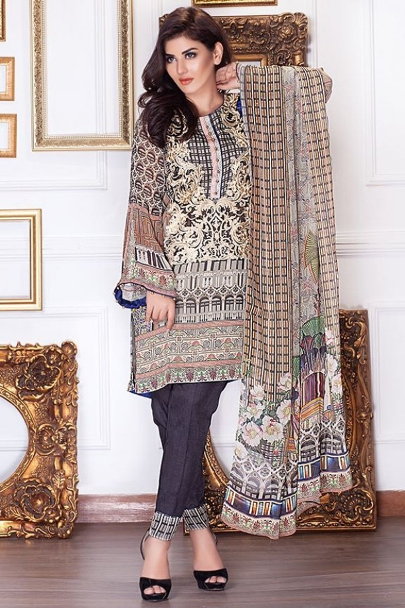 Motifz Embroidered Chiffon MDC-46