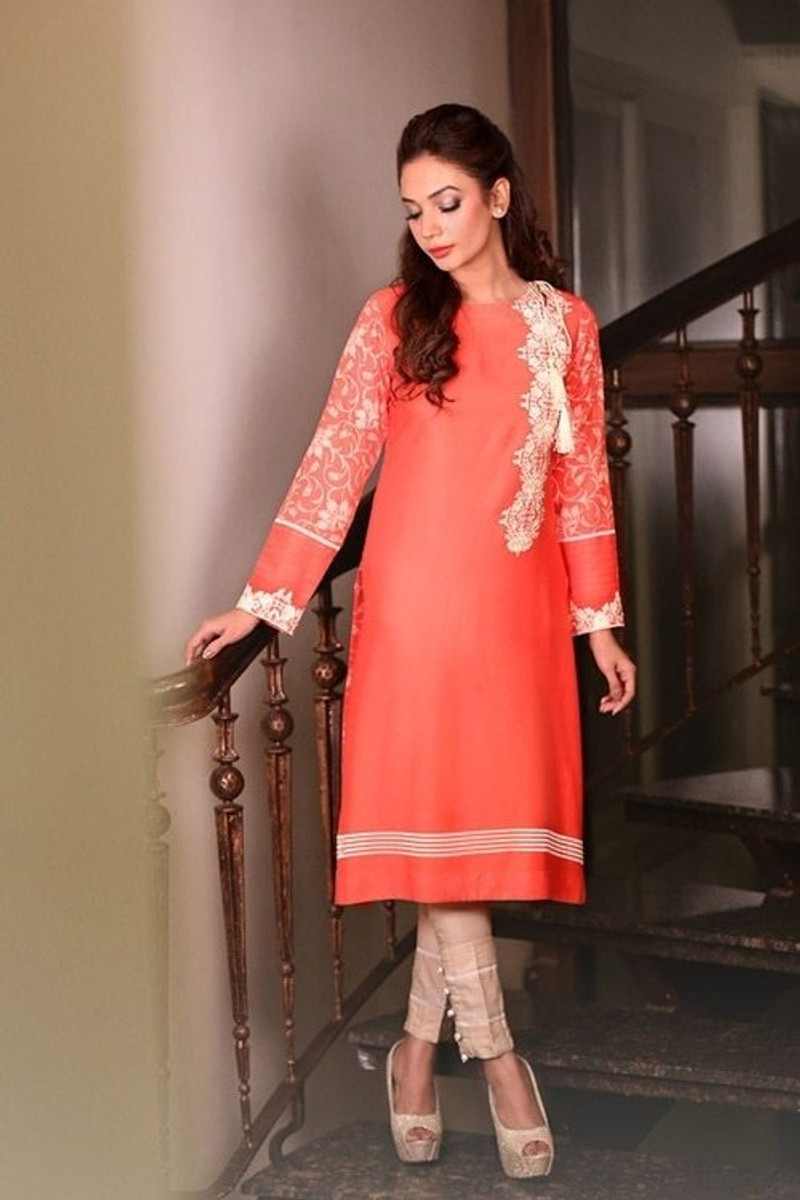 Saadia Asad Embroidered 14 Mustered Color