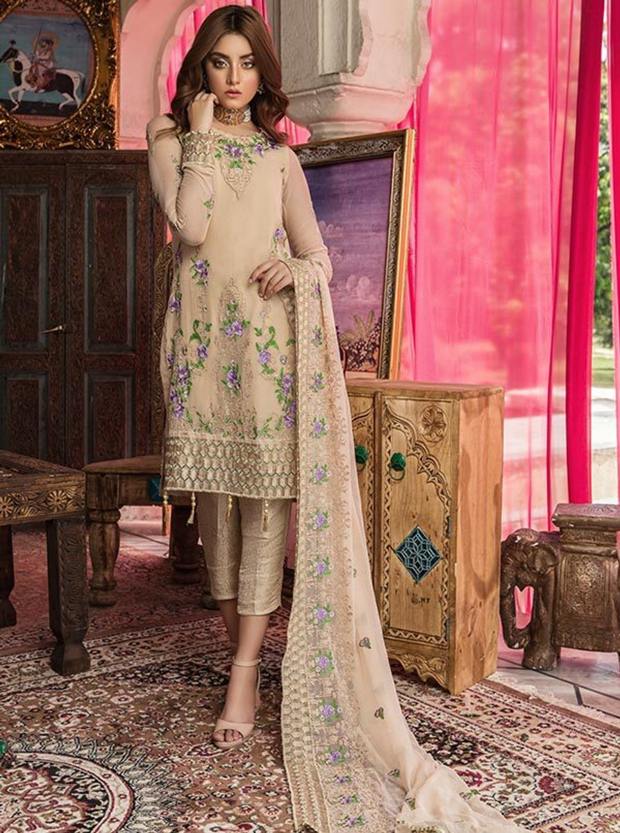 Feeha Embroidered Chiffon 11 Permasen Glam