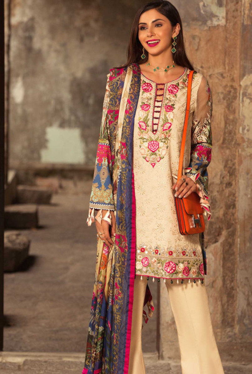 Noor by Saadia Asad Luxury Lawn NSL 12B