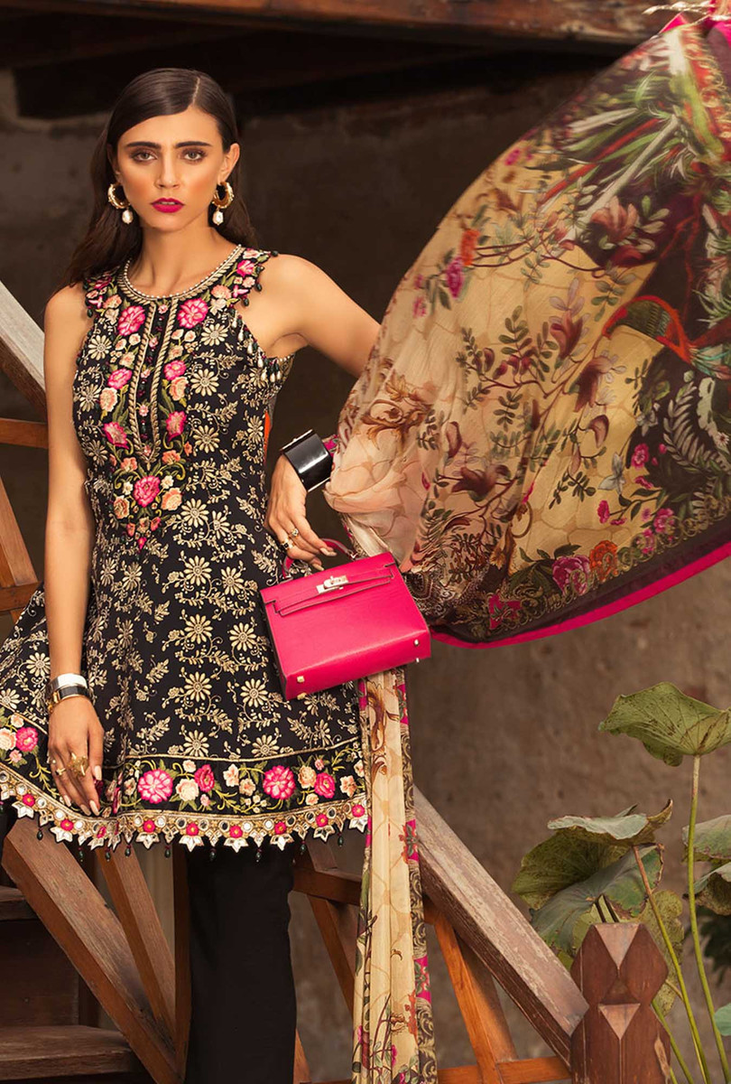 Noor by Saadia Asad Luxury Lawn NSL 12A