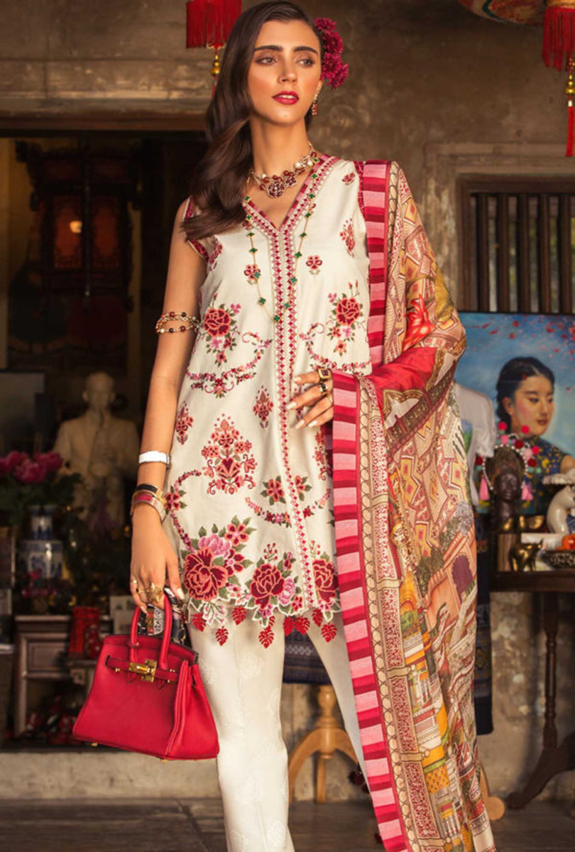 Noor by Saadia Asad Luxury Lawn NSL 07B
