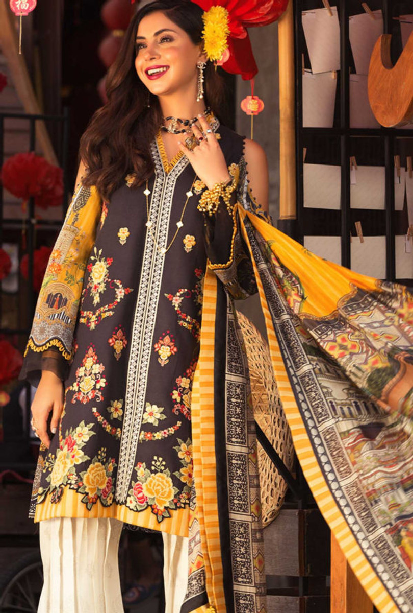 Noor by Saadia Asad Luxury Lawn NSL 07A
