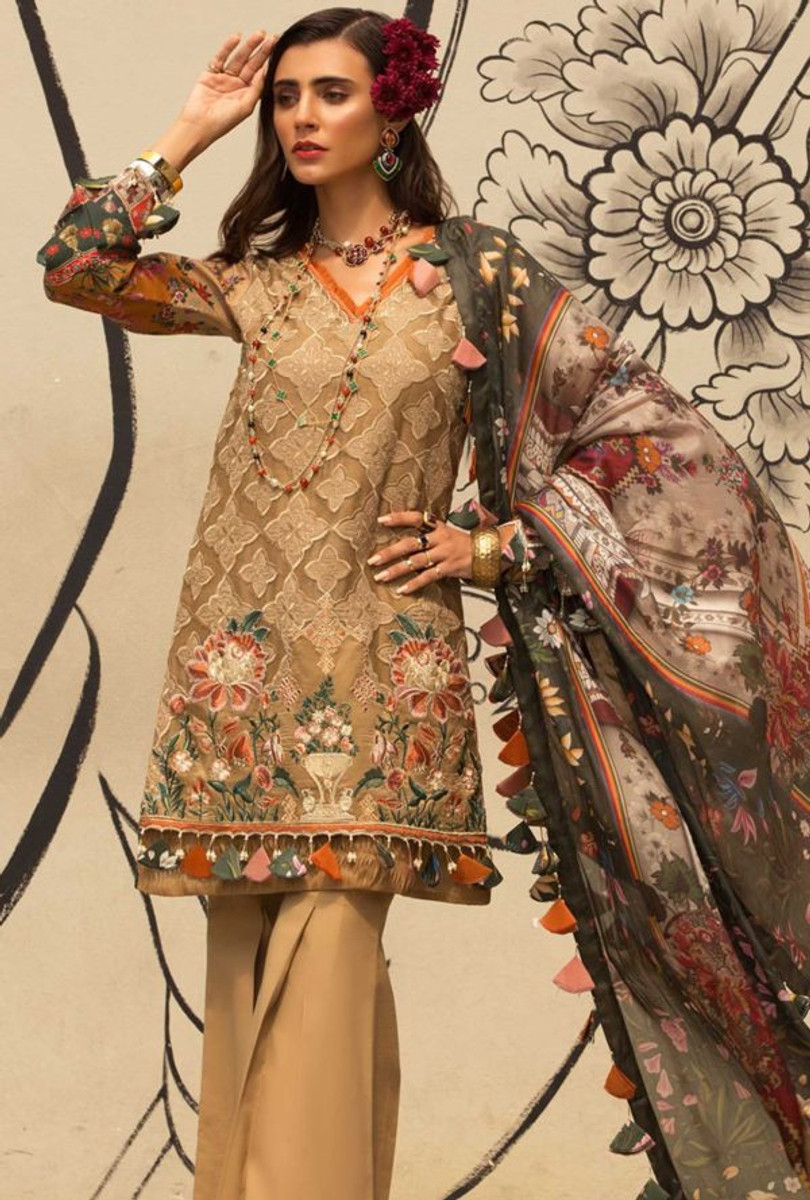 Noor by Saadia Asad Luxury Lawn NSL 01B