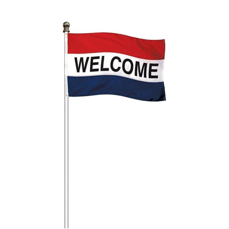 Flag Not Included - Tangle Free Rotating Aluminum Flagpole