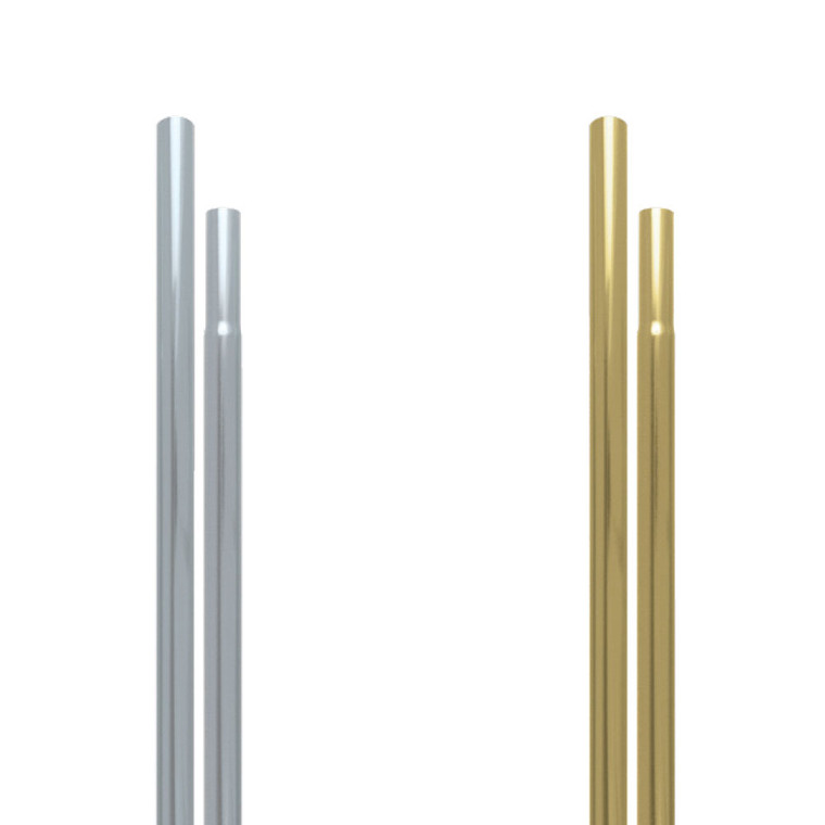 "Silver/Gold 1"" Aluminum Display Poles"