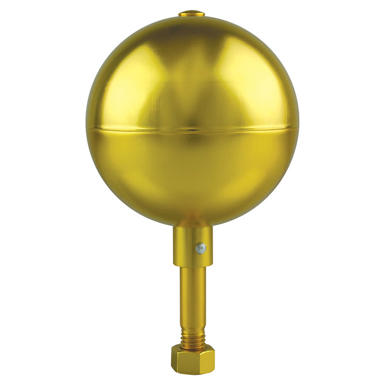 Gold - Aluminum Flagpole Ball Ornament