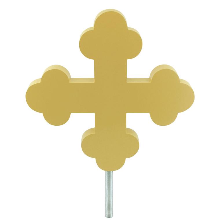 Gold Botonee Cross Aluminum Flagpole Ornament