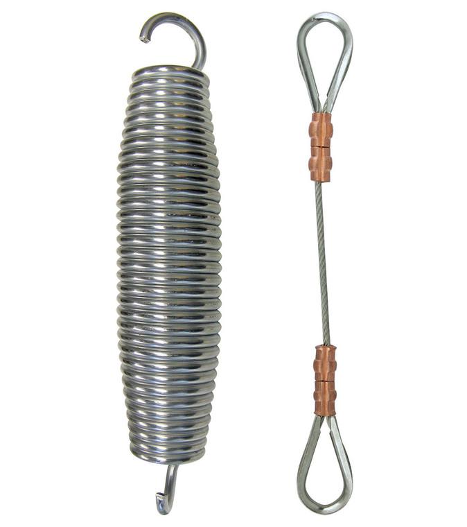 Shock Spring & Safety Cable for Internal Halyard Flag Arrangement