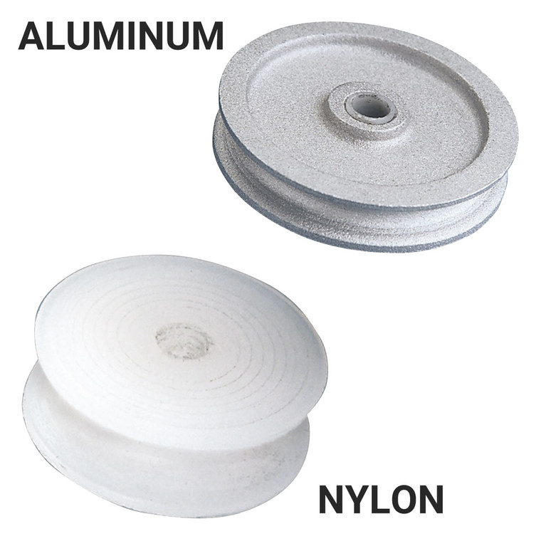 Nylon and Aluminum Rope Pulleys
