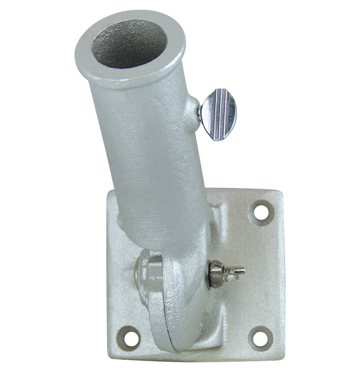 Silver - Heavy Duty Multi-Angle Aluminum Flagpole Bracket