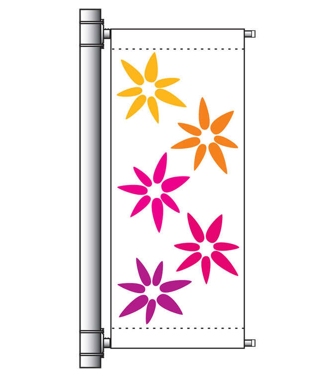 Single Arm Banner Mounting Set - w/ Top and Bottom Crossbars