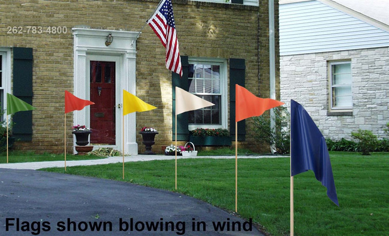 Real Estate Flags Mounted on Pointed Dowels