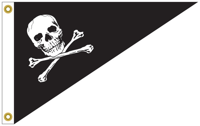 """Bow Pennant Pirate / Jolly Roger Flag - 10"""" x 15"""""""