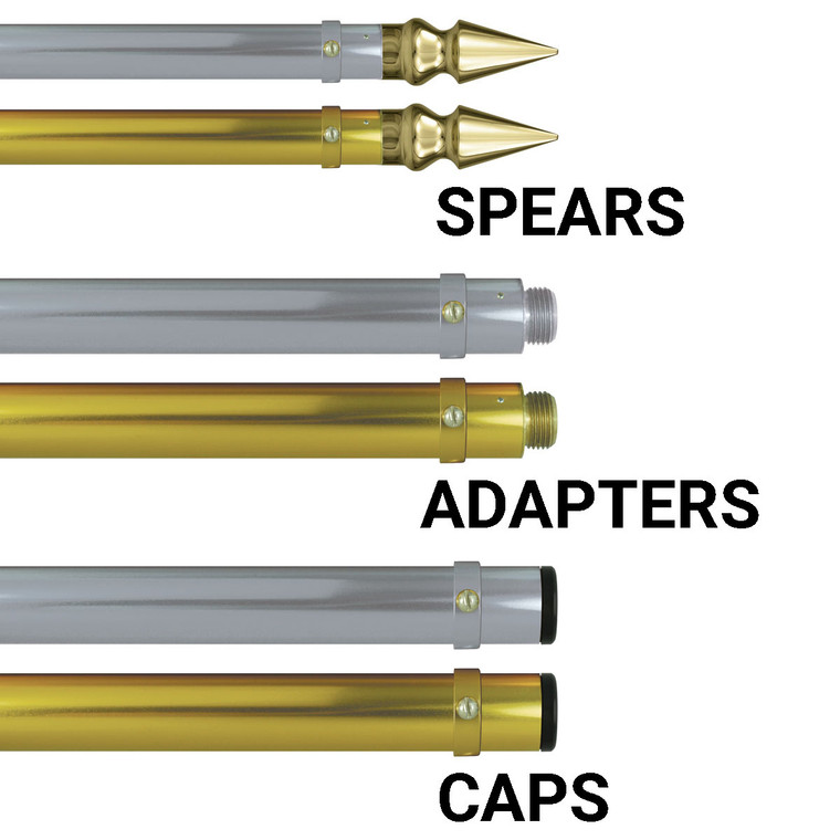 Deluxe Aluminum Lead Banner Poles w/ Spear Ends