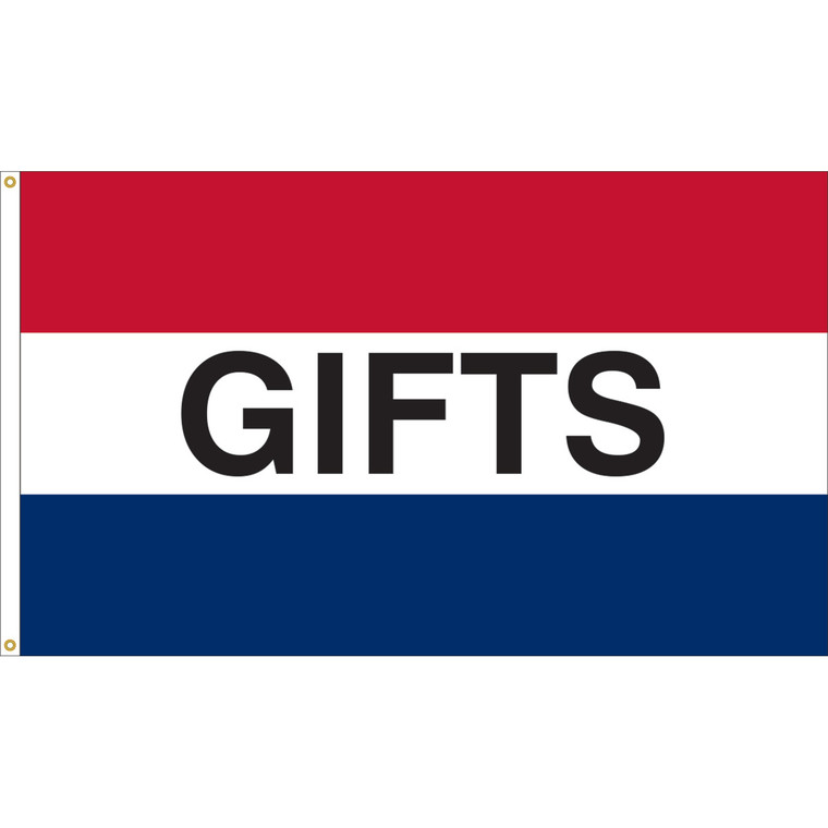 3' x 5' -GIFTS - Red/White/Blue Message Flag