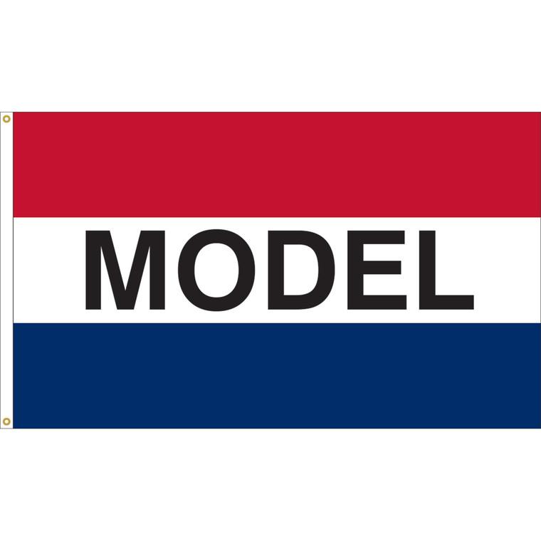 3' x 5' - MODEL - Red/White/Blue Message Flag