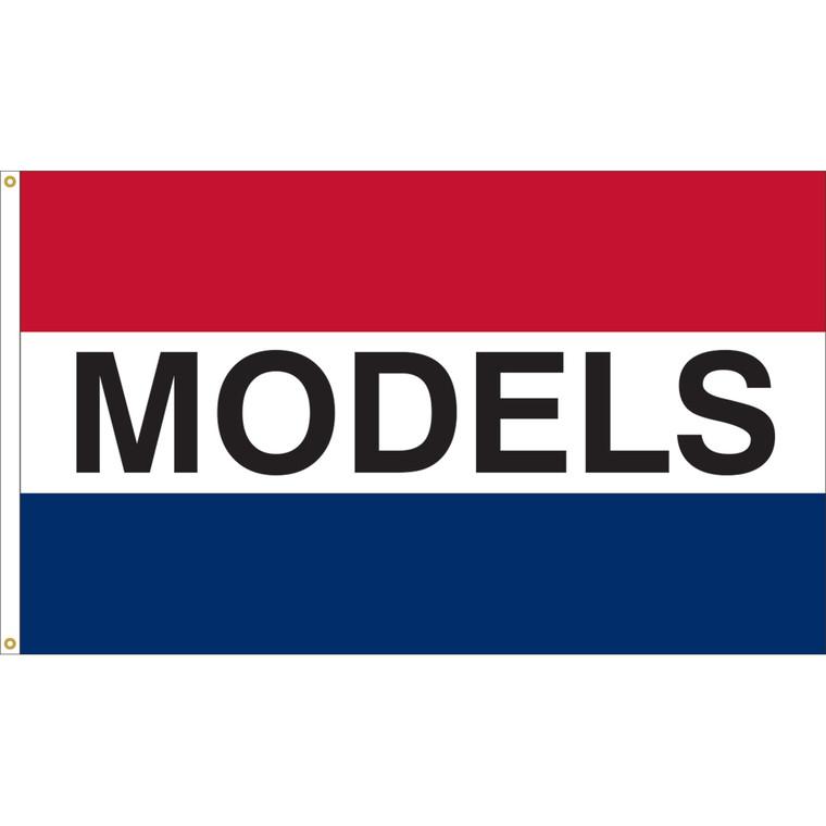 3' x 5' - MODELS - Red/White/Blue Message Flag