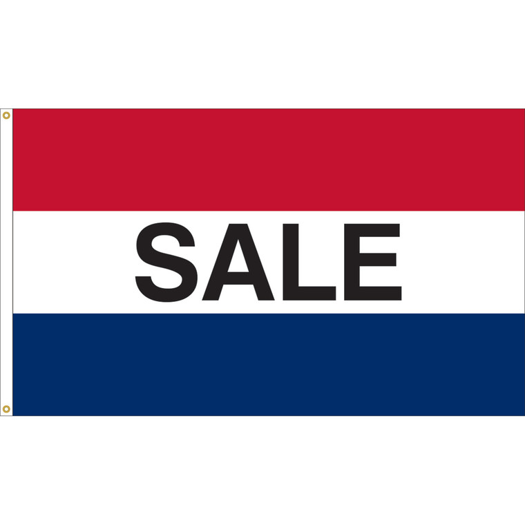 3' x 5' - SALE - Red/White/Blue Message Flag