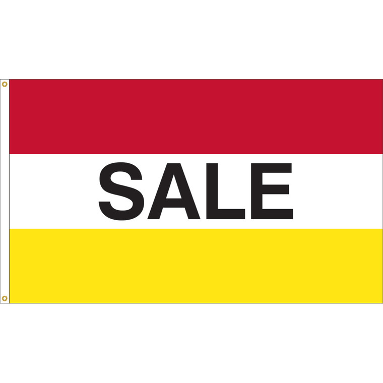 3' x 5' - SALE - Red/White/Yellow Message Flag