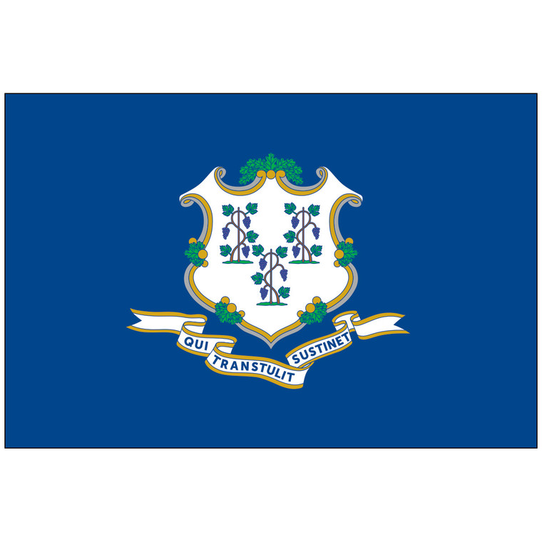 Mounted Connecticut Flag