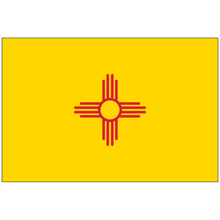 Mounted New Mexico Flag