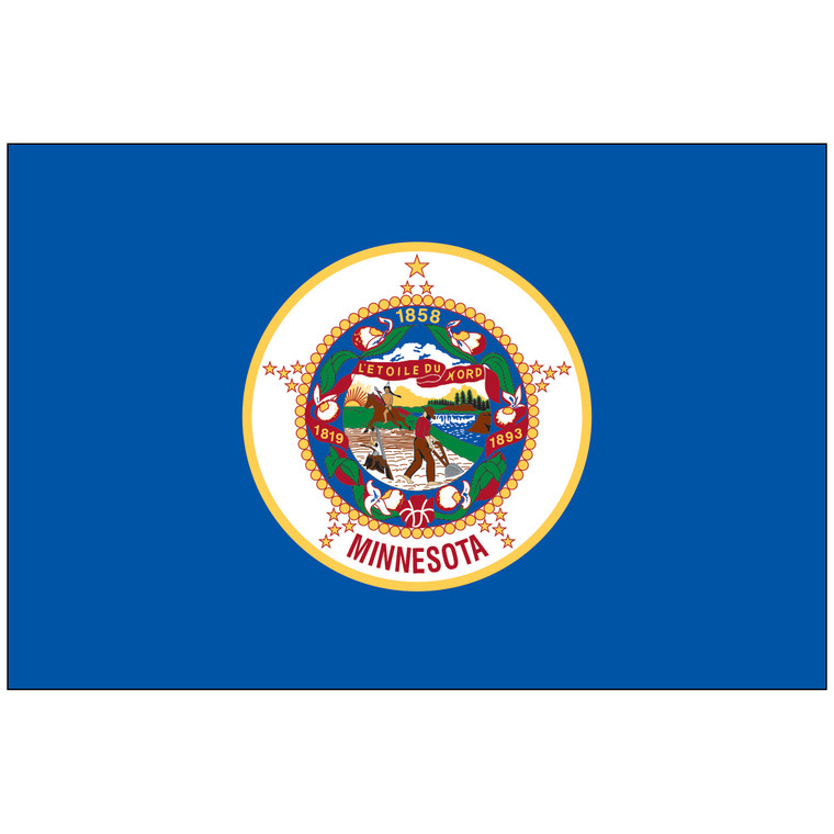 Mounted Minnesota Flag