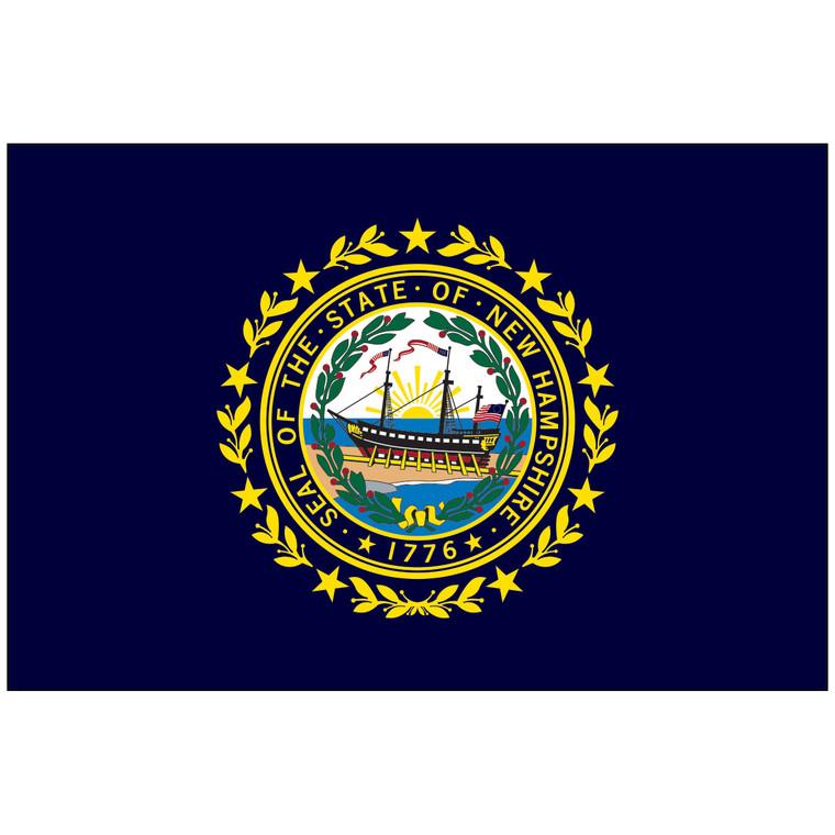 Mounted New Hampshire Flag