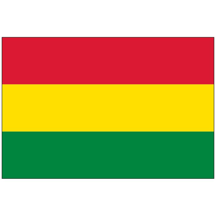 Bolivia (No Seal) Flag