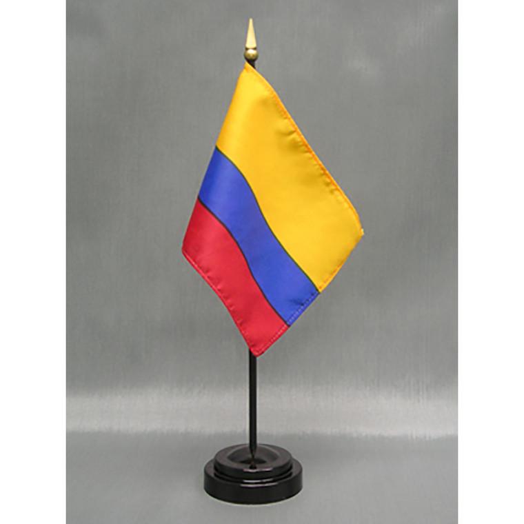Colombia 4x6 E-Gloss Mounted Flag