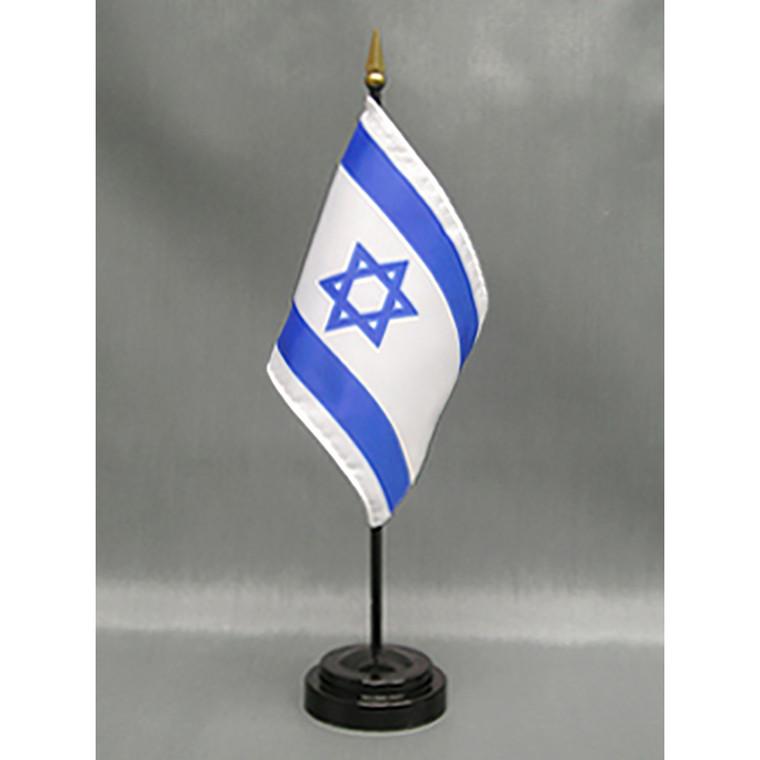 Israel 4x6 E-Gloss Mounted Flag