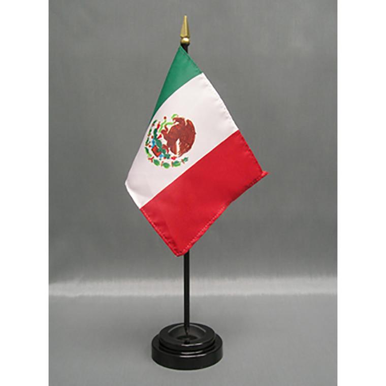Mexico 4x6 E-Gloss Mounted Flag