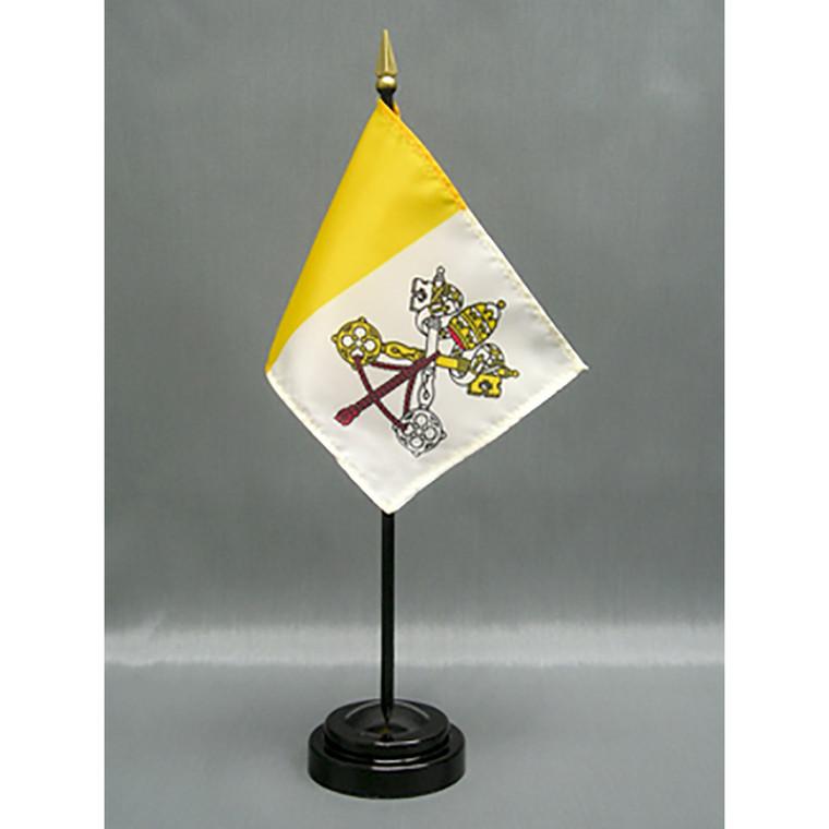 Vatican City (Papal) 4x6 E-Gloss Mounted Flag