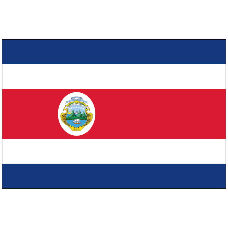 Costa Rica w/Seal Flag