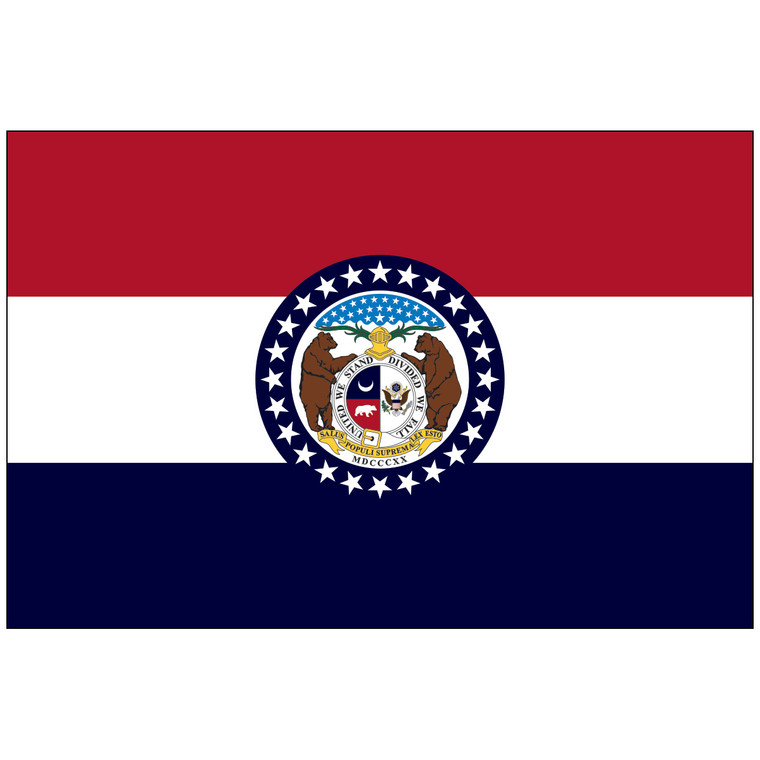 Mounted Missouri Flag