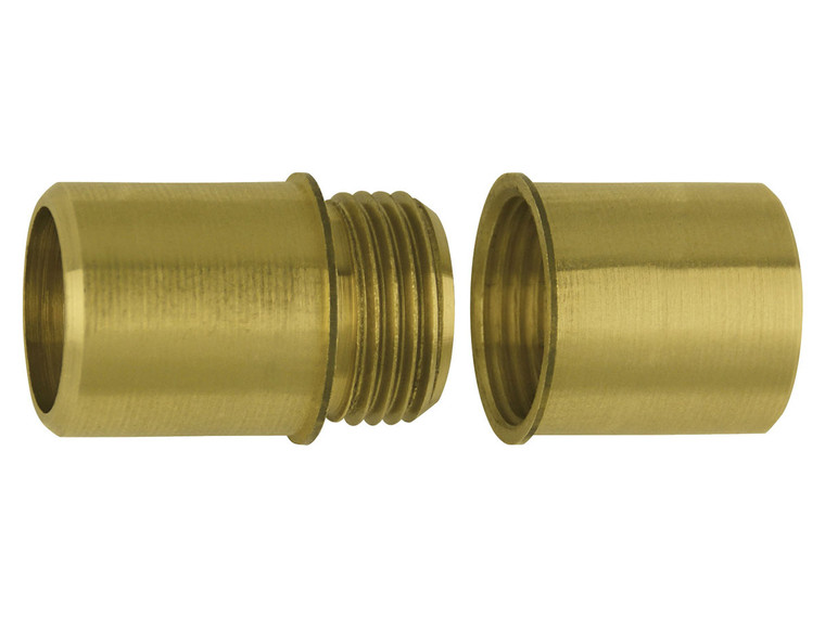 Brass Screw Joints for Aluminum Poles